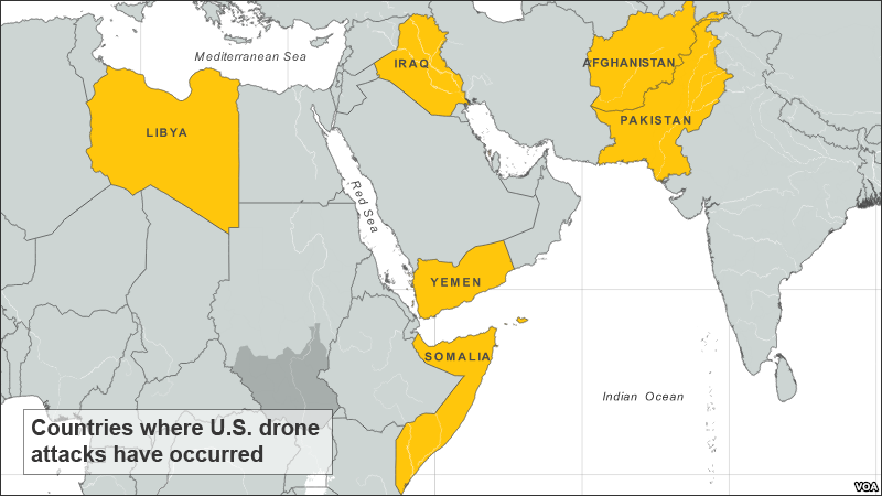 Can US Fight Insurgencies Schirach Report - Us drone strikes map